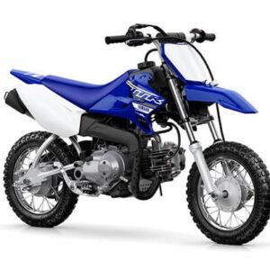 Moto de motocross y enduro negra con azul rey