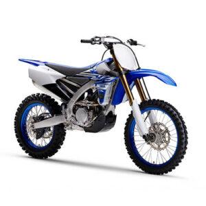Moto de motocross y enduro con toques azules
