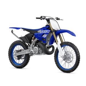 Moto de motocross y enduro negra con blanco