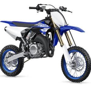 Moto de motocross y enduro azul rey y blanca