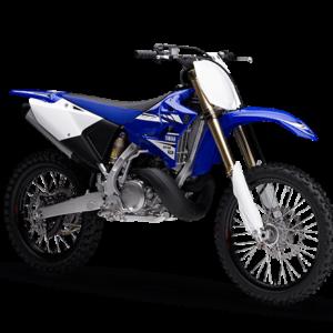 Moto de motocross y enduro con toques blancos