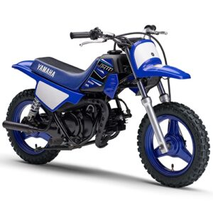 Moto de motocross y enduro negra con azul