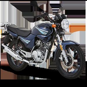 Moto urbana negra con azul