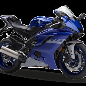 Moto R6 negra con azul