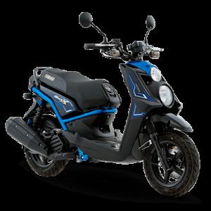Moto Bws X azul con negra
