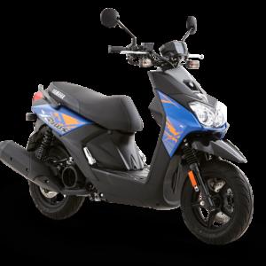 Moto Bws azul con negra y naranjado