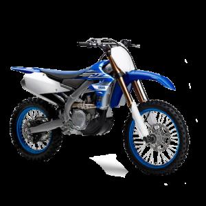 Moto de motocross y enduro azul rey