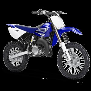 Moto de motocross y enduro azul rey y negra