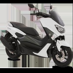 Moto Nmax blanca con negro