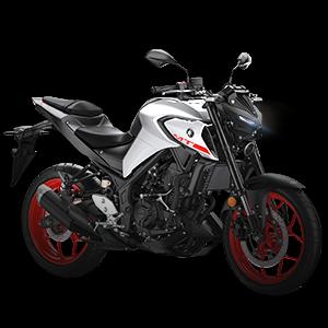 Moto deportiva blanca con plateado y negro