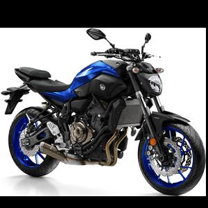 Moto deportiva negra con azul