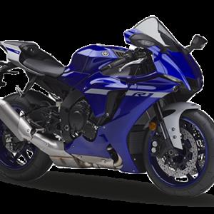 Moto R1 negra con azul